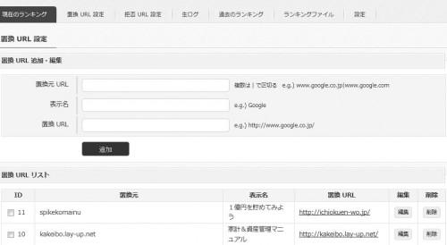 simaccess、置換URL